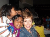 With orphan girls at MJC in India